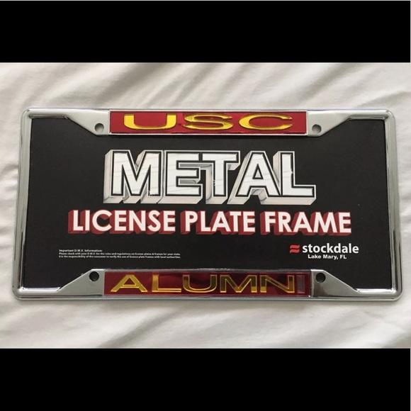Usc Alumni Metal License Plate Frame New | Poshmark